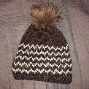 Accessories - Brown and White Beanie